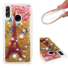 Fashionable cartoon painting is suitable for Huawei Honor 10 Lite dynamic quicksand anti - falling mobile phone shell