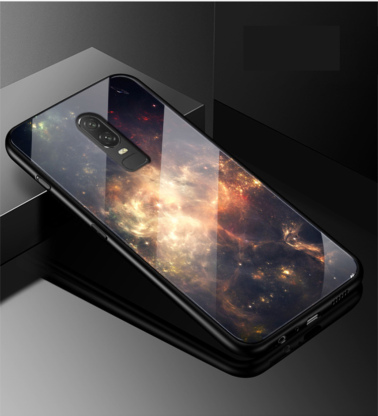 Tempered Glass Case for Oneplus 6 Case Ultra Thin HD Pattern for one plus6 Back Cover For red for One plus 6 6.28 case Bumper