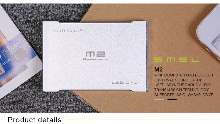 SMSL M2 Hifi Portable Headphone Amplifier USB Decoder DAC External Sound Card 9