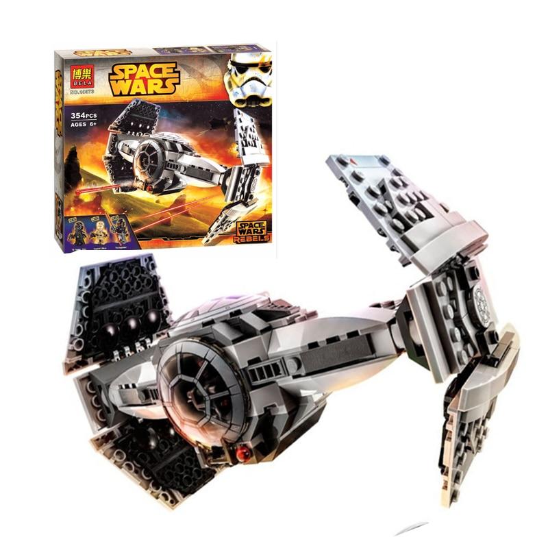 ФОТО new 354pcs/set star wars tie advanced prototype fighter building blocks pilot minifigure kids toys action figure children gift