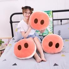 1 шт. 40 см креативная круглая розовая свинка нос мягкая подушка диванная подушка Забавный персонализированный домашний декор модная мультяшная плюшевая игрушка