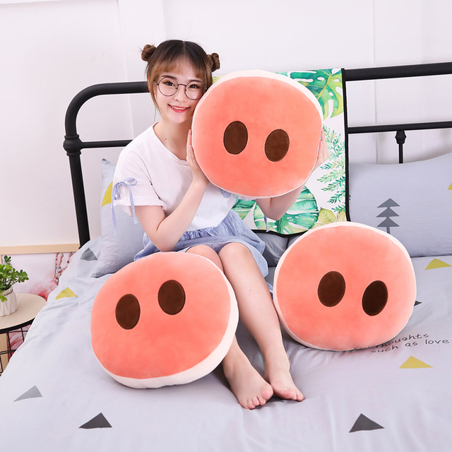 1 pc 40 cm Creatieve Ronde Roze Varken Neus Soft Kussen Sofa Kussen Grappige Gepersonaliseerde Home Decor Trendy Cartoon Pluche knuffel