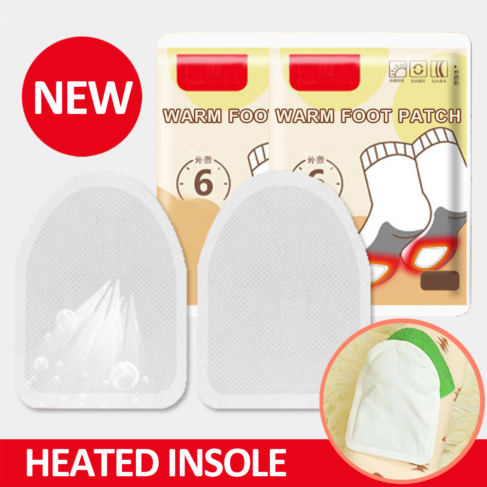 Disposable Winter Insoles Heated  Automatically  Women Men Electric Battery Heating Warm About 50 Degree Shoe Inserts Foot Pads