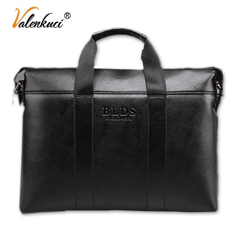 ФОТО 2017 Men Briefcase Business Shoulder Bags Genuine Leather Bag Handbag Men Messenger Bag Laptop Men's Travel Bags OB-014