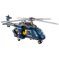 Jurassic World Dinosaur Park Blue Helicopter Pursuit Chase 415PCS Block Toy Dinosaurs