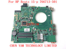 original 766713-501 For HP Beats 15-p Laptop Motherboard DAY23AMB6C0 REV:C A8-5545M mainboard 100% Tested 90 Days Warranty