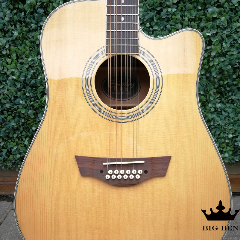 12 strings 41-inch acoustic guitar wooden polyphonic guitar pick up professional beginner folk guitar 12string pickup parts wood