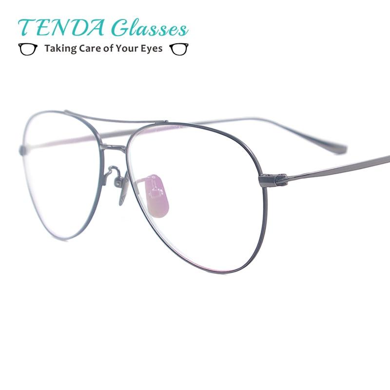 Men Metal Medium Sunglasses Frame Women font b Pilot b font Spectacles For Prescription Driving Multifocal
