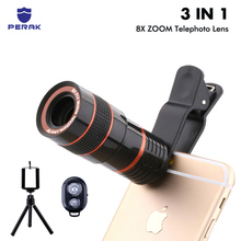 8X Zoom Telephoto Lens for iPhone 7 6 6s plus 5S Samsung phone lens + Universal mobile Tripod mount Holder Clip Remote shutter 60x 100x zoom microscope magnifier led uv light clip on micro lens for mobile phone iphone 8 7 6 6s sangsung w gift bag