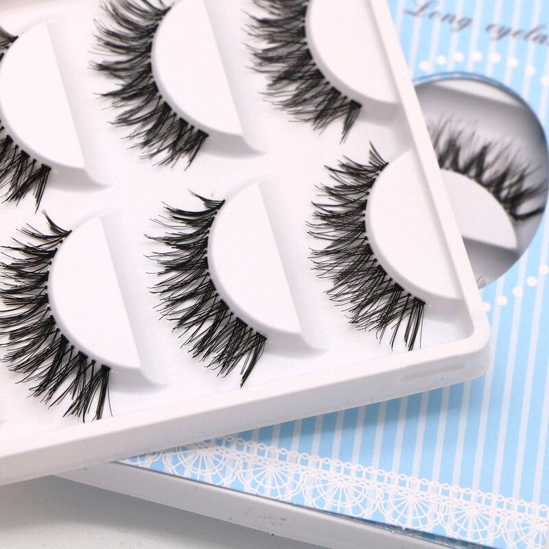 15 Pair EFERO Women's False Eyelashes Eye Lashes Extensions Makeup Tools Long Messy Eyelashes For Building Handmade Fake Lashes
