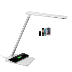 Lampy biurko LED lampa stołowa LED sypialnia salon ładowania telefonu komórkowego bezprzewodowy ładowarka biurkowa wyjście USB lampa studyjna #40