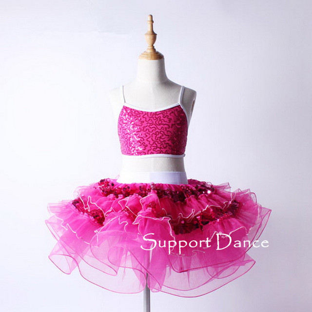 848a2dcc7caa 2 piece Camisole Professional Ballet Dress Crop Top And Tutu Skirt ...