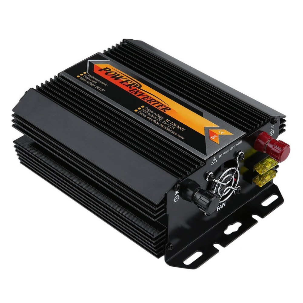 T8101 Профессиональный 1000Вт/2000Вт Инвертор Автомобильное зарядное устройство конвертер для автомобиль дома, используя питания