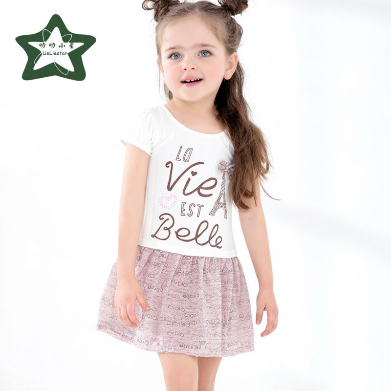 Baby Girl Dress Children Summer Costume Fashion Kids Fancy Clothes Girls Party Clothing 2017 New Style Infant Princess Dresses 2017 summer cute style baby girls clothing princess ruched dress children s clothes costumes for kids infant party bow dresses