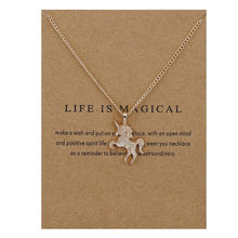 Simple Life Is Magical Animal Horse Pendant Necklace Clavicle Chains Chockers Necklace Women Girl Valentine's Day Gifts Jewelry(China)
