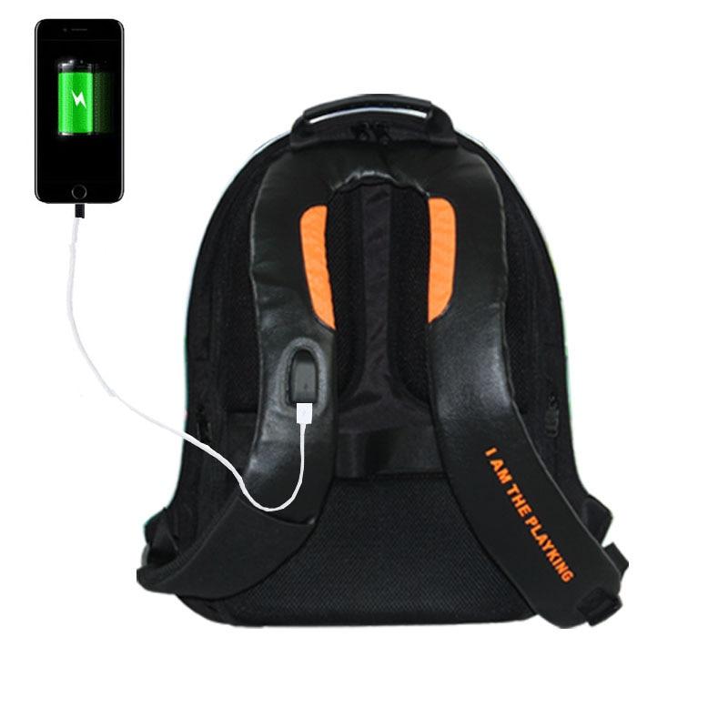 Анти ұрлық ноутбук баспа рюкзаты - Спорттық сөмкелер - фото 4