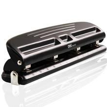 Metal 4 delik yumruk ayarlanabilir A2 A3 A4 kağıt kesici Puncher Scrapbooking DIY araçları okul ofis ciltleme kırtasiye