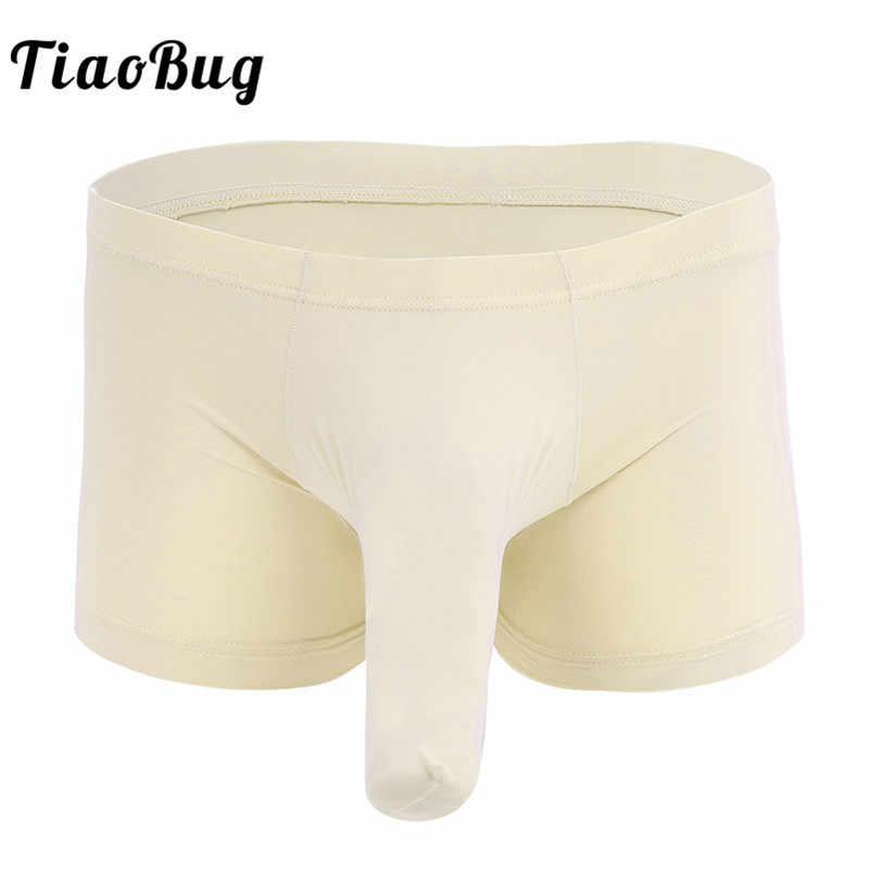 US New Men/'s Boxer Briefs Pouch Trunks Closed Penis Sheath Panties Underwear