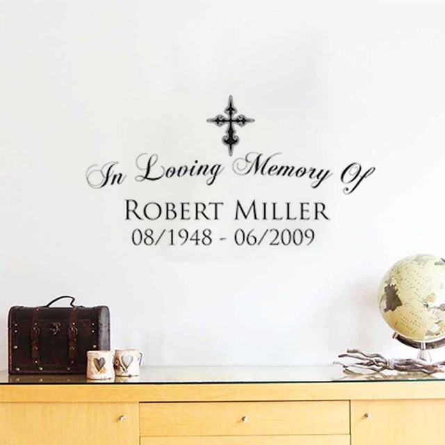 DCTOP Quotes In Loving Memory Of Plane Wall Stickers Text Robert Miller  Decorative Wall Stickers For