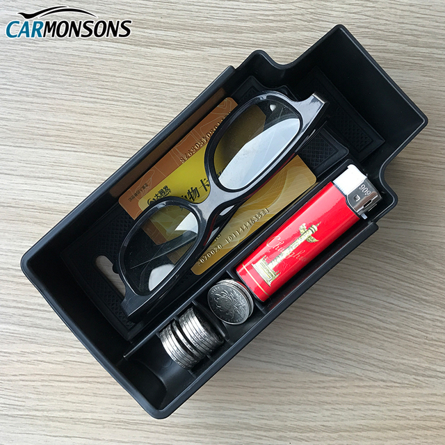 Carmonsons for Audi Q3 Console Central Armrest Storage Box Container Holder Tray Accessories Car Organizer Car Styling
