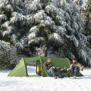 Image 3 - Nturehike 새로운 Opalus 터널 캠핑 텐트 3 4 사람 초경량 가족 텐트 4 시즌 15D/20D/210T 패브릭 텐트 캠핑 하이킹