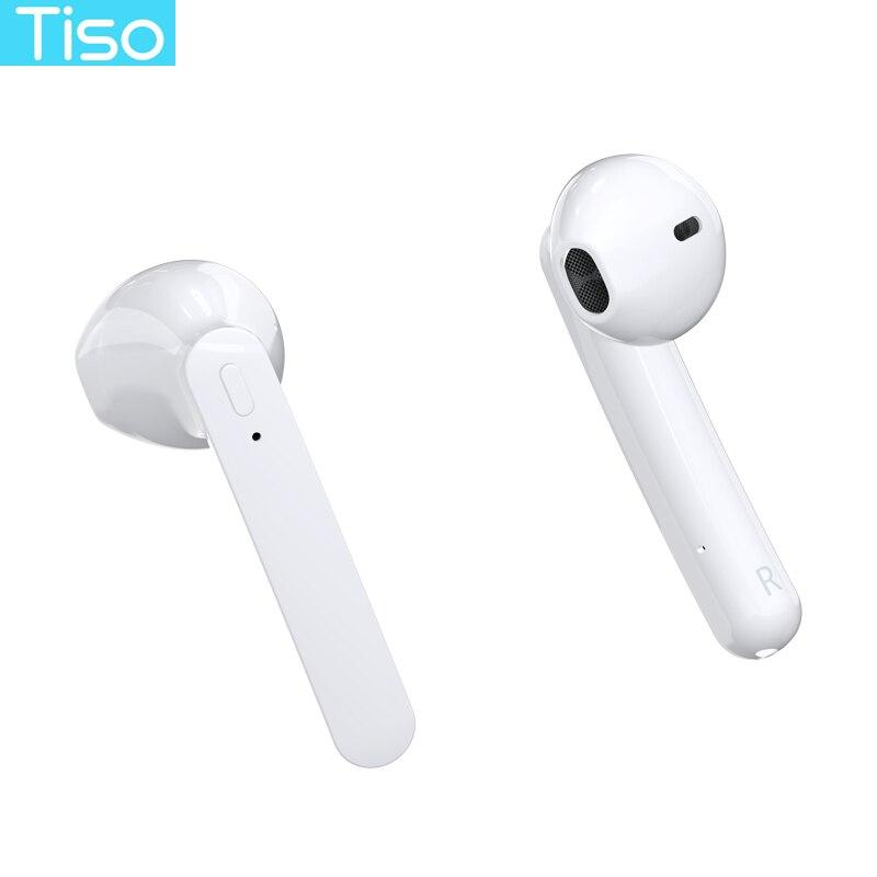 Tiso 13mm speakers Bluetooth 5.0 earphones 6D true wireless stereo HD headphone TWS IPX5 waterproof headset with dual microphone