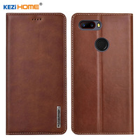 Case for ZTE Nubia Z18 mini KEZiHOME Luxury Genuine Leather Flip wallet Cover for ZTE Z18 mini 5.7'' Phone cases