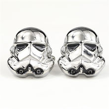 Brand Star Wars Cufflinks Galactic Empire Storm Trooper Spaceship For Men Shirt Cuff LinkHigh Quality Pin Badge Brooch Clothing(China)