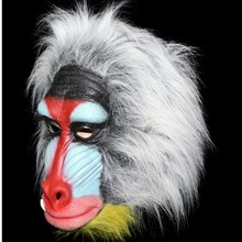 The highest selling Animal Latex Adult Size Fashion Realistic Colorful baboon mask