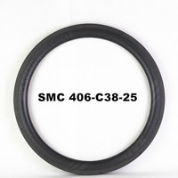 SMC Speed Mini Cycle Promotion 20 406 Clincher Carbon Rim Depth 38mm Width 25mm Lightweight BMX Bicycle 24Holes Carbon Wheelset