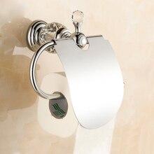 Бесплатная Доставка Европейский Стиль Роскошные Chrome Кристалл Держатель Для Туалетной Бумаги ТУАЛЕТНАЯ Бумага Держатель Туалетной бумаги Аксессуары Для Ванной Комнаты