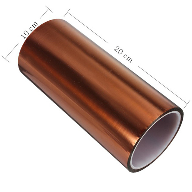 200mm x 100ft High Temperature Heat Resistant Kapton Polyimide Tape High Quality 55mm x 33m 100ft kapton tape high temperature heat resistant polyimide fast ship