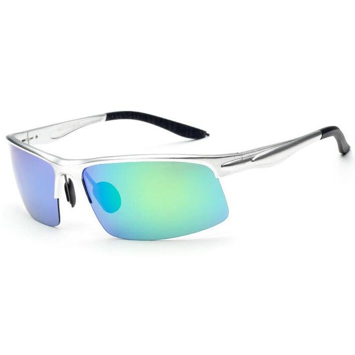 Jomolungma поляризованные очки для рыбалки для мужчин и женщин с корпусом из алюминиевого магниевого сплава уличные спортивные солнцезащитные очки PG880 - Цвет: Light Blue