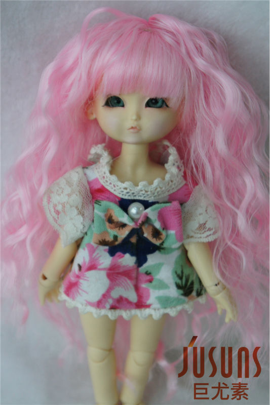 1/8 doll  wigs  Lati yellow  Fairy suzub  wig Lovely Synthetic Fiber Wigs Kanekalon Fiber  wig for Resin and Vinyl doll