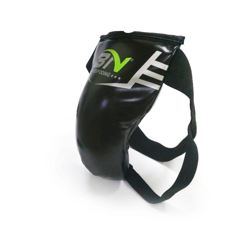 PU Groin Crotch Guard MMA Boxing Muay Thai Shin Instep Protector for Kids