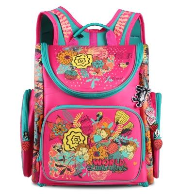 ФОТО Russian Children School Bags Flower Printed Orthopedic Backpack School Portfolio Girls Schoolbag Kids Satchel Mochila Infantil