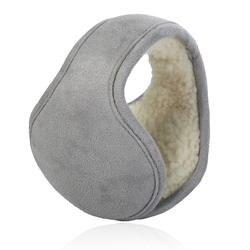 Зимние наушники Для женщин складные наушники сзади носить замшевую бархат ухо гетры Теплый плюш Earflap Регулируемый уха крышка Earbag