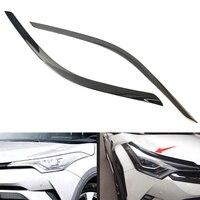 YAQUICKA Fit For Toyota CHR C-HR 2016 2017 2018 자동차 외장 전조등 램프 눈썹 스트립 커버 스타일링 액세서리