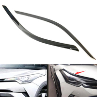 YAQUICKA Fit For Toyota CHR C HR 2016 2017 2018 Car Exterior Front Headlight Lamp Eyebrow Strips Cover Styling Accessories