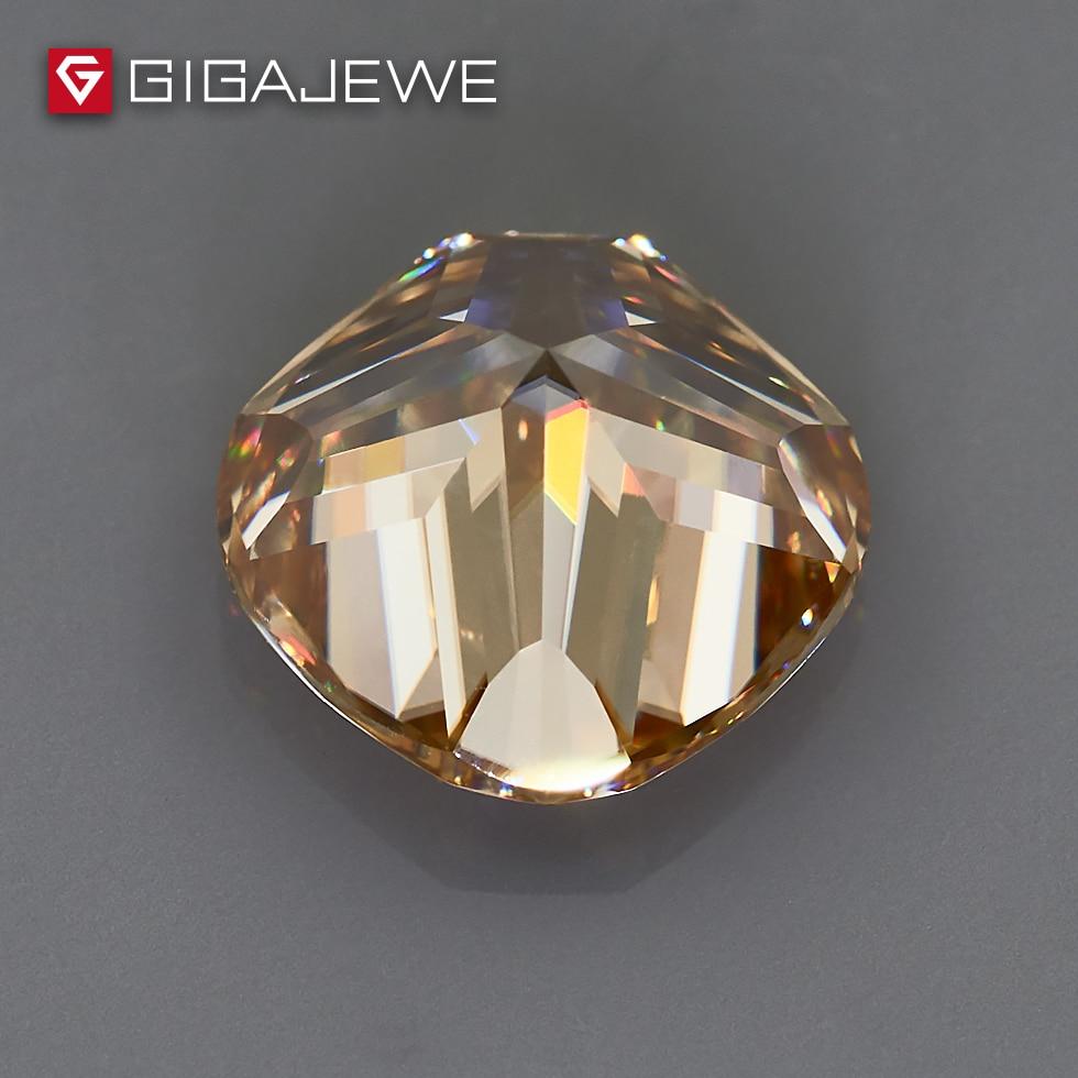GIGAJEWE Moissanite poduszka Cut złoty VVS1 9X9mm 3.5ct luźny kamień laboratorium diament klejnot piękna biżuteria Making kobiety dziewczyna prezent w Koraliki od Biżuteria i akcesoria na  Grupa 3