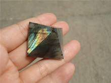 Natural Moonstone natural labradorite pyramid Decoration LA1116