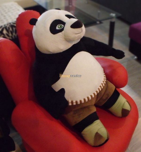 Fancytrader 39'' / 100cm The Biggest Giant Stuffed Cute Plush Kung Fu Panda Toy, Nice Gift For Babies, Free Shipping FT50209 1pc oversize huge 80cm funny stuffed simulated panda toy giant filling panda plush doll nice gift and decoration