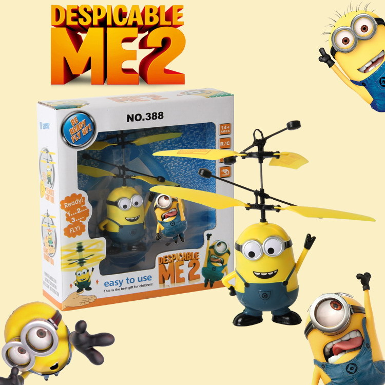 Handing Remote Control RC Helicopter Flying Minion Quadcopter Drone Ar.drone christmas Kids Toy