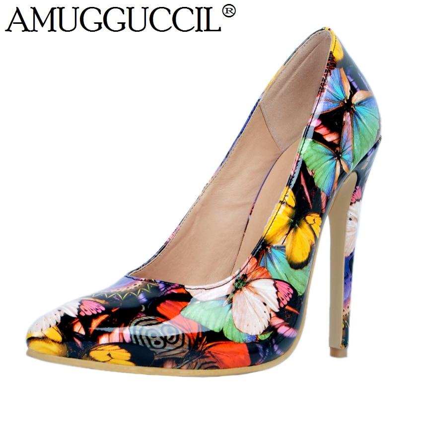 2019 Nova Chegada Plus Size Grande 34-47 Multi-cor de Moda Sexy de - Sapatos femininos