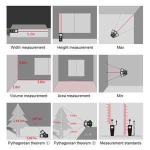 Image 5 - Лазерный дальномер Mileseey, электронная измерительная лента