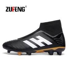 abda68e982d44 ZUFENG fútbol tobillo Superfly botas de fútbol largo hombres FG adultos  niños Original al aire libre