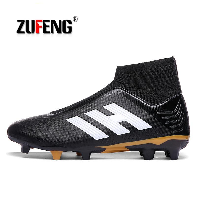 249857d6 ZUFENG zapatos de fútbol de tobillo alto Superfly botas de fútbol con  espigas largas FG hombres