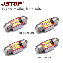 JSTOP 4piece/set Lancer super bright led lights 31mm led festoon canbus 12V Trunk light c5w 6000K Lamp canbus bulbs