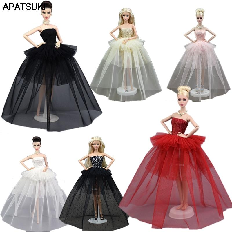 d616043b5c0c Ropa de muñeca para Barbie princesa vestido de boda Noble vestido de ...
