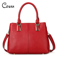 Cesha Luxury Genuine Leather Women S Casual Tote High Quality Cow Leather Shoulder Bag Fashion Business